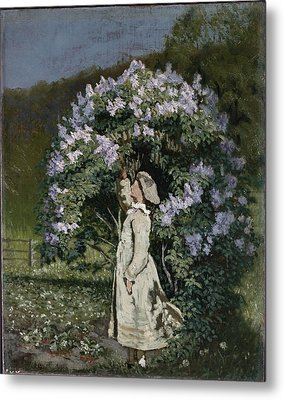 The Lilac Bush Metal Print by Olaf Isaachsen