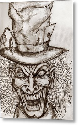 The Mad Hatter Metal Print by Michael Mestas