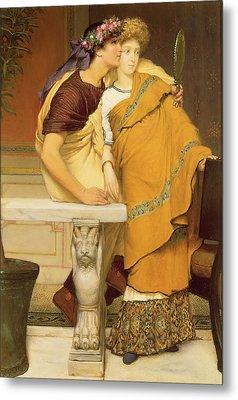 The Mirror Metal Print by Sir Lawrence Alma-Tadema