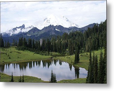 Metal Print featuring the photograph The Mountain by Jerry Cahill