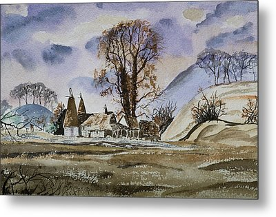 Metal Print featuring the painting The Olde Oast House by Rob Hemphill