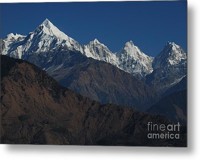 Metal Print featuring the photograph The Panchchuli Range by Fotosas Photography