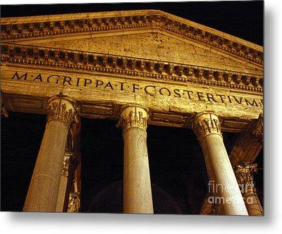 The Pantheon At Night Metal Print by Kent Nickell