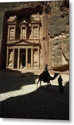 The Pharaohs Treasury Or Khazneh Metal Print by James L. Stanfield