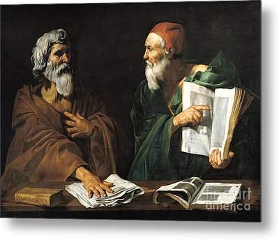 The Philosophers Metal Print by Master of the Judgment of Solomon