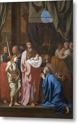 The Presentation Of Christ In The Temple Metal Print by Charles Le Brun