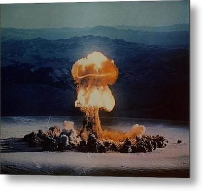 The Priscilla Shot Was A 37 Kiloton Metal Print by Everett