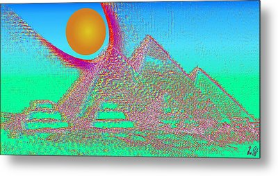 The Pyramids Metal Print by Helmut Rottler