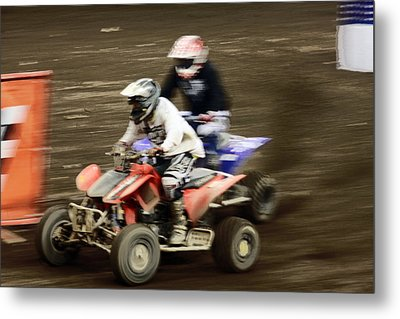 The Race To The Finish Line Metal Print by Karol Livote