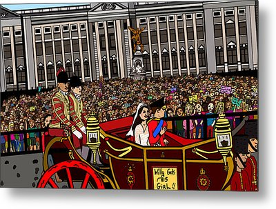 The Royal Wedding  Metal Print by Karen Elzinga