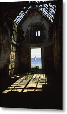 The Ruin Of A Slave Warehouse Dating Metal Print by James L. Stanfield