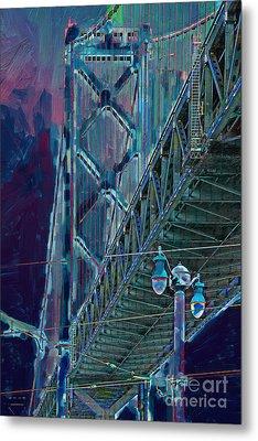 The San Francisco Oakland Bay Bridge Metal Print by Wingsdomain Art and Photography