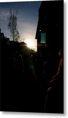 The Sun Departs Whistler Bc Metal Print