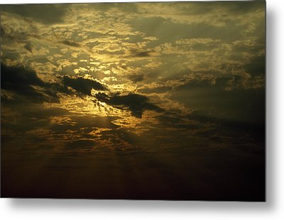 The Sun Obscured By A Late Afternoon Metal Print by Jason Edwards