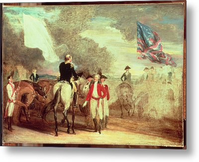 The Surrender Of Cornwallis At Yorktown Metal Print