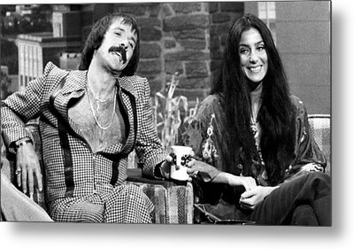 The Tonight Show, Sonny & Cher, 1975 Metal Print by Everett