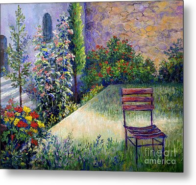 Metal Print featuring the painting The Unseen Guest by Lou Ann Bagnall