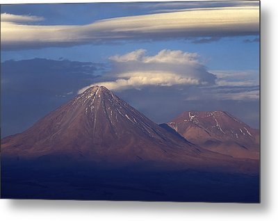 The Volcano Llicancabur. Republic Of Bolivia. Metal Print by Eric Bauer