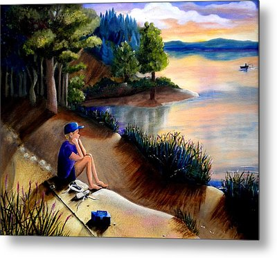 The Wish To Fish Metal Print by Renate Nadi Wesley