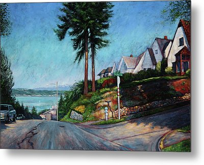 Metal Print featuring the painting Thirtieth And Cedar  by Charles Munn