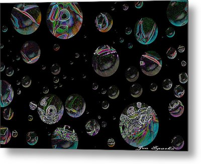 Thought Bubbles Metal Print