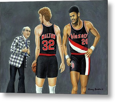 Three Champs Metal Print by Henry Frison