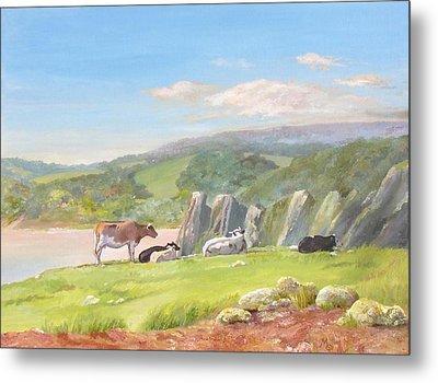 Three Cliffs Bay Gower Metal Print by Maureen Carter