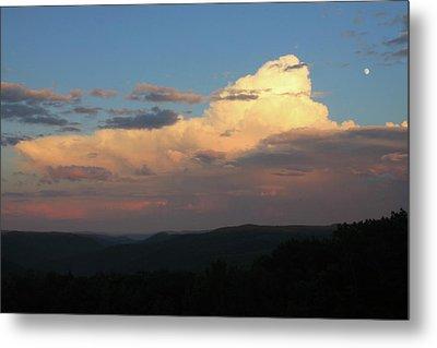 Thunderstorm Over Deerfield River Valley Berkshires Metal Print by John Burk