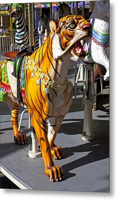 Tiger Carousel Ride Metal Print by Garry Gay