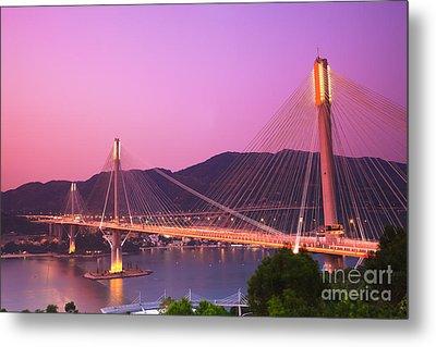 Ting Kau Bridge Metal Print by MotHaiBaPhoto Prints