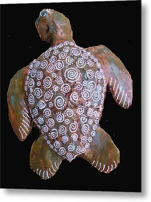 Toni The Turtle Metal Print by Dan Townsend
