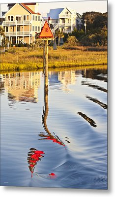 Topsail Sound Sunset Metal Print by Betsy Knapp