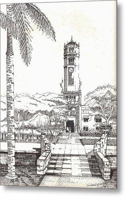 Torre De La Universidad De Puerto Rico Metal Print by Juan  Salazar