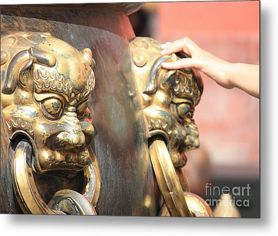 Touch Of Good Fortune Metal Print by Carol Groenen