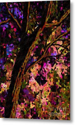 Metal Print featuring the painting Touch Of Pink by Steven Lebron Langston