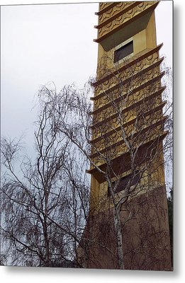 Tower And Trees Metal Print