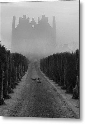 Tower In The Mist Metal Print by Debra Collins