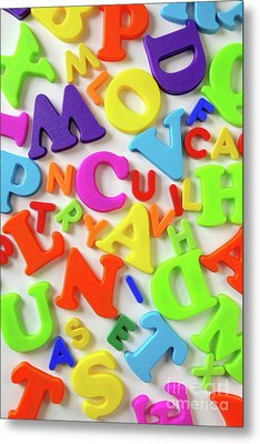 Toy Letters Metal Print