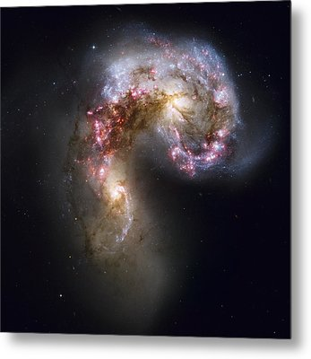 Trailing Streamers Of Gas And Stars Metal Print by ESA and nASA