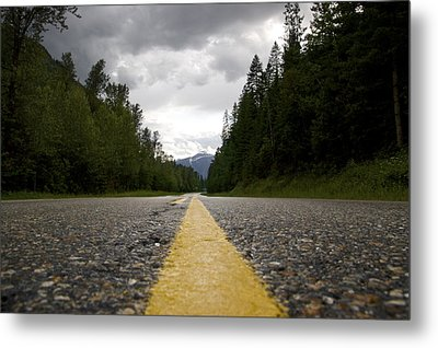 Trans Canada Highway Metal Print by JM Photography