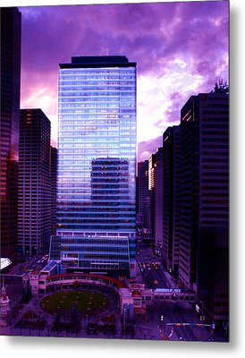 Transalta Building Purple Metal Print