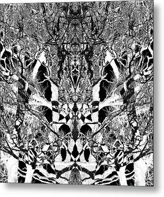 Metal Print featuring the digital art Tree Patterns by Michele Cornelius
