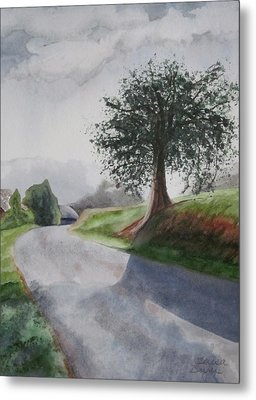 Metal Print featuring the painting Tree by Teresa Beyer