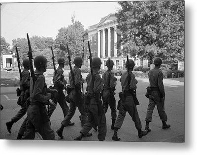 Troops At The University Of Alabama Metal Print by Everett