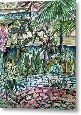 Tropical Garden Metal Print by Mindy Newman