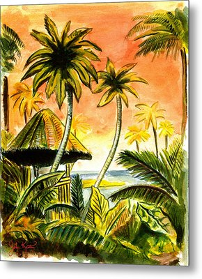 Tropical Skies Metal Print by John Keaton