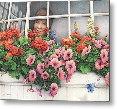 True Colors Shining Through Metal Print by Amy S Turner