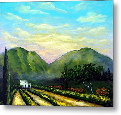 Tuscany Light Metal Print by Larry Cirigliano