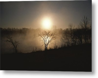 Twilight View Of Fog Over The Tennessee Metal Print by Sam Abell