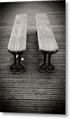 Twin Benches Metal Print by Edward Myers